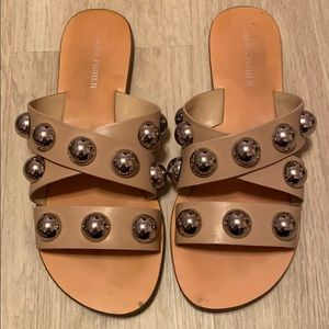 Marc Fisher Slip On Studded Sandal Size 7 in Nude